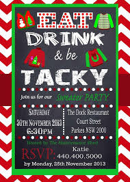 Party Invitations Terrific Ugly Sweater Christmas Template Ideas As Prepossessing