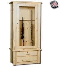 Rustic Pine 8 Gun Cabinet