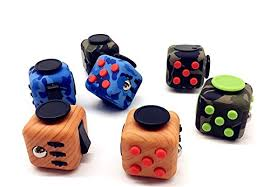 Fidget Cube Relieves Stress And Anxiety For Children Adults Attention Toys 6 Colors Blue Camouflage