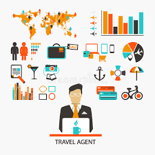 Download Travel Agent Infographic Stock Vector Illustration Of Pictogram