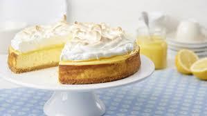 cheesecake mit lemon curd und baiser