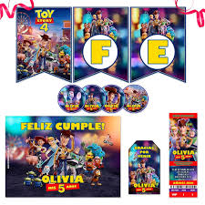 Kit Imprimible Toy Story 4 Candy Bar Photo Props Completo