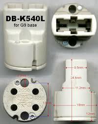 g9 bulb socket db k540l l holder