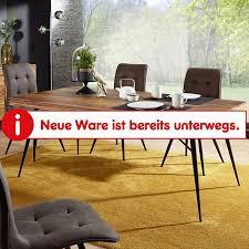 wohnling esszimmertisch wl5 581 holz 200x77x100 cm sheesham massiv metallbeinen tisch esszimmer küchentisch