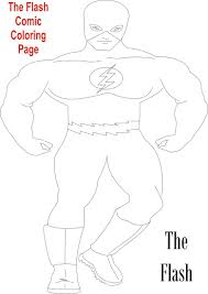 Flash Comic Character Coloring Page