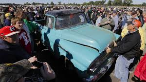 The $142,000 Pickup: Truck With 1.3 Miles Tops Vintage Car Auction ... 1956 Chevrolet Cameo For Sale Classiccarscom Cc794320 1955 Chevy Truck Rear 55 59 1958 Pickup Start Run External Youtube Cameo Gmc Trucks Antique Automobile Club Of 1957 Chevy Truck Hot Rod Network F136 Monterey 2012 Pick Up Truckweaver Al Mad Flickr Rm Sothebys The Wiseman God Ertl 118 3100 White 7340 New American Street Feature Tom Millikens 56 Is Done Right