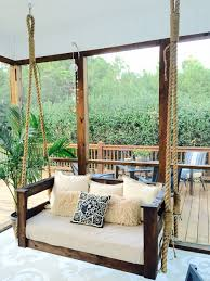 Inexpensive Screened In Porch Decorating Ideas by Small Porch Decorating Diy Porch Swing With Baby Crib Mattress