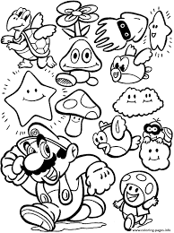 Cartoon Mario Bros Sa16d Coloring Pages Print Download