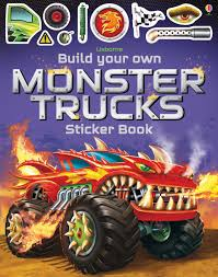 Build Your Own...: Build Your Own Monster Trucks Sticker Book