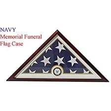DisplayGifts United States Navy Flag Display Case Box For FOLDED 5X95