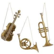 RAZ Festive Forever Musical Instrument Ornament Set Tabletop Christmas Tree Trees Ornaments