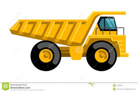 Mining Dump Truck Flat Design Vector Icon Stock Vector ...