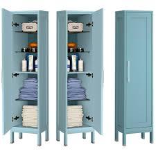 badezimmer hochschrank 1 türig re li tarifa 110 in blue matt b h t ca 35 160 32cm