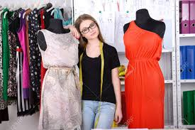 Fashion Designer At Work Beautiful Young Woman Working In Design Studio Stock Photo
