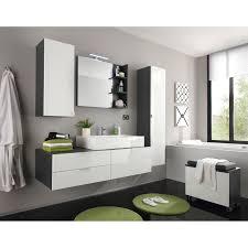 badmöbel set weiß grau 4 teilig 189 cm inkl aufsatzwaschbecken