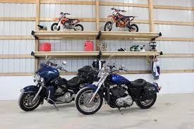 Motorcycle Storage With Post Rack