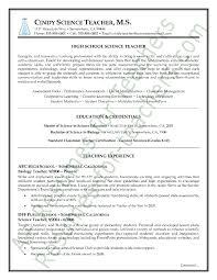 Science Teacher Resume Sample Page1