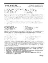 Law Enforcement Resume Summary Examples Resumes Professional Police