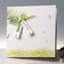 Country Rustic Mint Green Folded Butterfly Wedding Invitations With Response Cards EWRI019 As Low 169