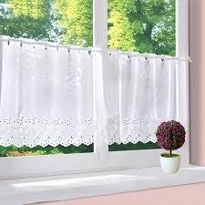 rideau de cuisine brise bise 1pc rideau brise bise photique hxl 45x120cm blanc avec broderie