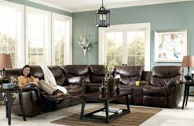 stupendous brown sectional living room leather sectional living