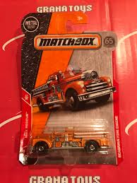 100 Matchbox Fire Trucks Seagrave Engine 1730 Rescue 2018 Case B Grana Toys