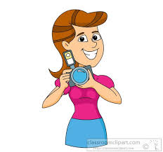 photographer with digital camera clipart 6229