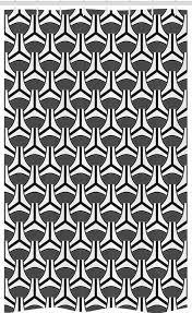 abakuhaus duschvorhang badezimmer deko set aus stoff mit haken breite 120 cm höhe 180 cm abstrakt achromatic ovals stripes kaufen otto