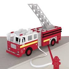 100 Model Fire Trucks Truck Pop Up Card Lovepop