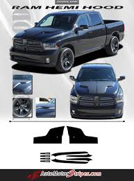 Vehicle Specific Style Dodge Ram Truck Hemi Hood Blackout Accent ...