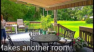 Sun Shade Deck Awning- Outdoor Living Expert - YouTube Gallery Retractable Patio Creative Awnings Shelters Deck Patio Canvas Canopy Globe Awning Retractable Rolling Shutters Ca Since More On Modern Style Wood And Ideas For Decks Helpful Guide Your And American Sucreens Porch A Hoffman All About Gutters Deck Awnings Best 25 Ideas On Pinterest Awning Cover Design Installation Ct Toff Shades Sci