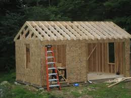 12x16 Storage Shed Plans by Build A Shed For Under 500 Building Plans 8x10 10x12 Free With