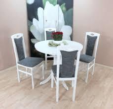 möbel 2 x stuhl massivholz weiß graphit esszimmer stuhlset