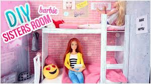 Barbie Living Room Furniture Diy by Diy Barbie Chambre Comment Faire Lits Superposés Pour Poupées