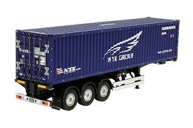 Amazon.com: Tamiya 40'Container Semi-Trailer For RC Tractor Truck ...