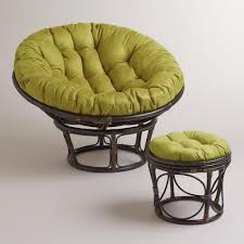 Oversized Papasan Chair Cushion by Oasis Green Micro Suede Papasan Chair Cushion World Market