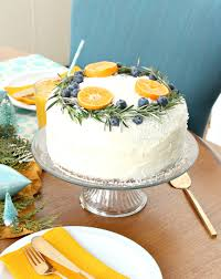 Carrot Cake with Natural Wreath Decoration