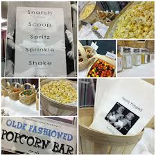 Popcorn Bar For A Baby Shower For Twin Boys Event