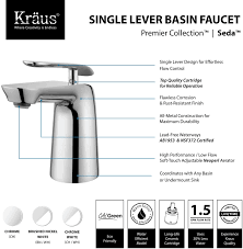 Bathtub Drain Lever Up Or Down by Kraus Fus1821bnwh Single Handle Cast Spout Bathroom Faucet With 5