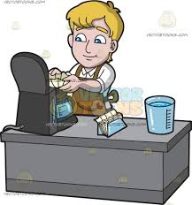 A Man Placing Filter In Coffee Maker