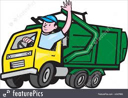 Garbage Truck Driver Waving Cartoon Stock Illustration I4347856 At ...
