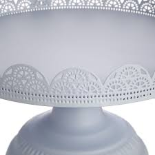 Pale Blue Cake Stand With Glass Dome
