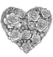 Heart And Rose Coloring Pages 15 Amazingly Exquisite Free Printable Of Flowers