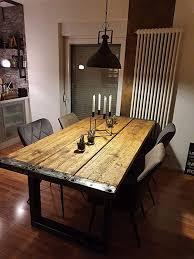gerüstbohlen tisch in weiß esstisch 8 personen handmade