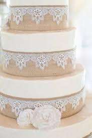 Astounding Ideas Burlap And Lace Wedding Cake Perfect Decoration Inspirations