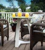 round outdoor table woodworking plans and information at