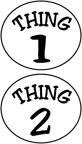 Thing 1 And 2 Shirts Clipart 2229589