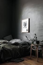 Grey Moody Bedroom With Organic Decor