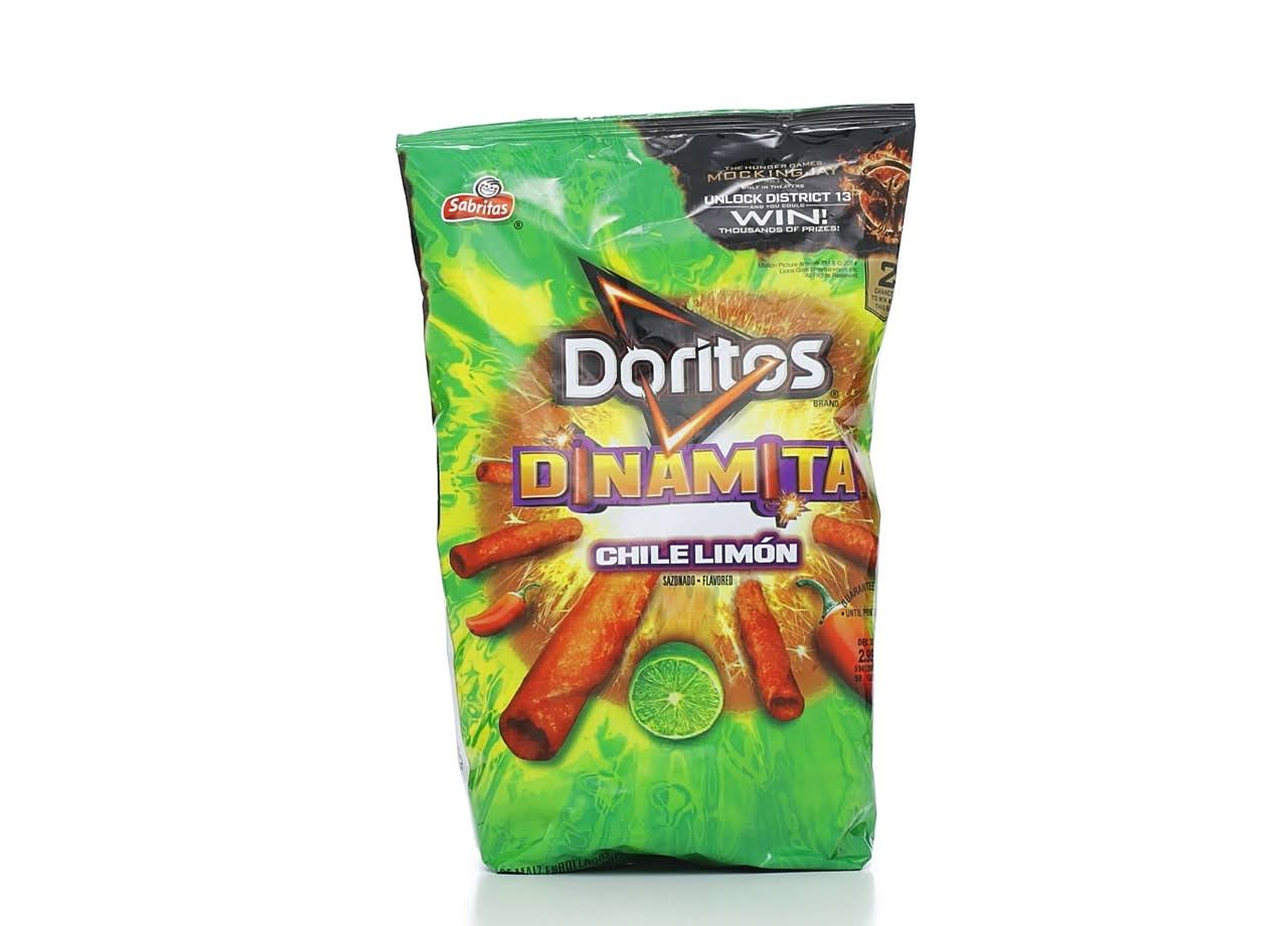 Doritos Dinamita Chile Limon Rolled Flavored Tortilla Chips - 9.25oz
