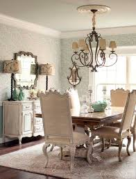 Burlap French Country Two Tone Trestle Table Sideboard Buffet Chandelier